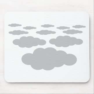 grey clouds weather mouse pad