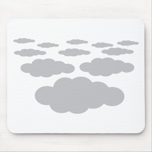 grey clouds weather mousepad