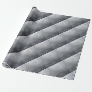 Grey clouds wrapping paper