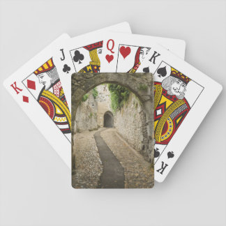 Grey Cobblestone street, France Playing Cards