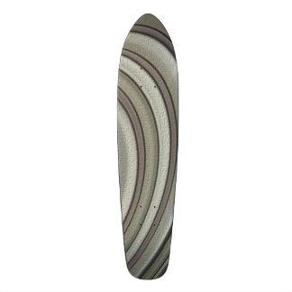 Grey colored line pattern skate deck