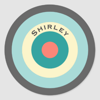 Grey Combination Bullseye by Shirley Taylor Classic Round Sticker