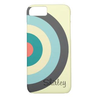 Grey Combination Bullseye by Shirley Taylor iPhone 8/7 Case