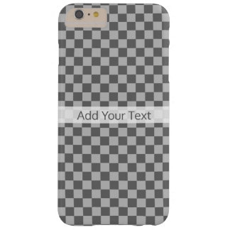 Grey Combination Checkerboard by Shirley Taylor Barely There iPhone 6 Plus Case