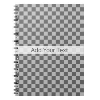 Grey Combination Checkerboard by Shirley Taylor Notebook
