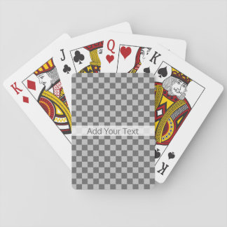 Grey Combination Checkerboard by Shirley Taylor Playing Cards