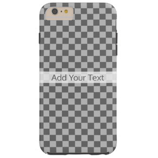 Grey Combination Checkerboard by Shirley Taylor Tough iPhone 6 Plus Case