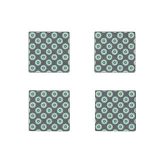 Grey Combination Circles Stone Magnet
