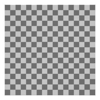 Grey Combination Diamond-Checkerboard Photo Art