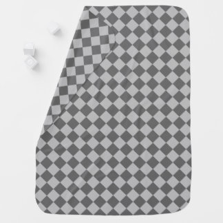 Grey Combination Diamond Pattern by Shirley Taylor Baby Blanket
