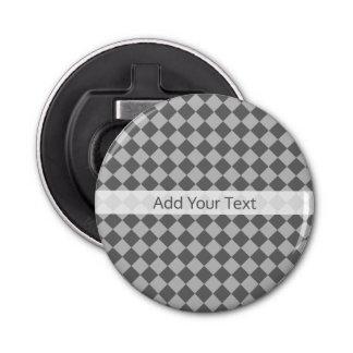 Grey Combination Diamond Pattern by Shirley Taylor Bottle Opener