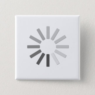grey computer loading symbol button