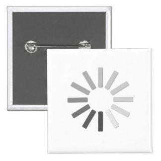 grey computer loading symbol button