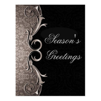 Grey Corporate Holiday Greetings Postcards