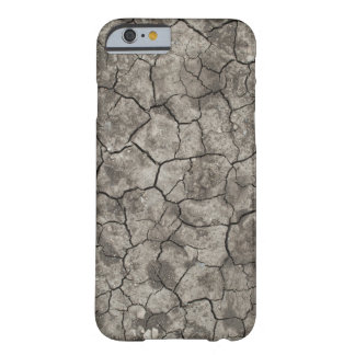 Grey Cracked Earth Barely There iPhone 6 Case