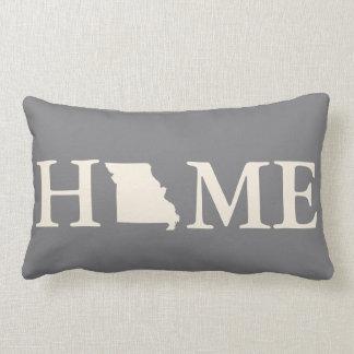 Grey & Cream Home State Missouri Diamonds Pattern Lumbar Cushion