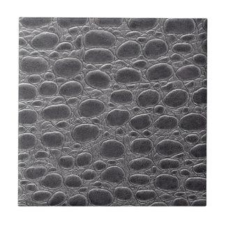 Grey Crocodile Look Small Square Tile