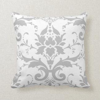 Grey Damask Design Pillow
