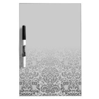 Grey Damask Dry Erase Whiteboards