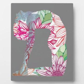Grey Deco Floral Yoga Series Plaque