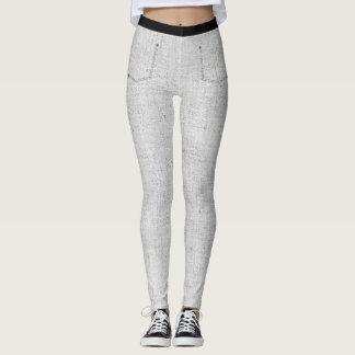 Grey Denim Skinny Jeans Leggings