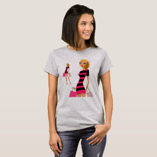 Grey designers t-shirt with Model girl