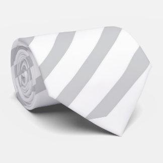 Grey Diagonal Stripe Tie