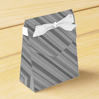 Grey diagonal stripes wedding favour box