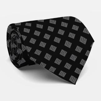 Grey Diamond on Black Tie