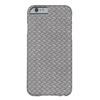 Grey Diamond Plate Barely There iPhone 6 Case
