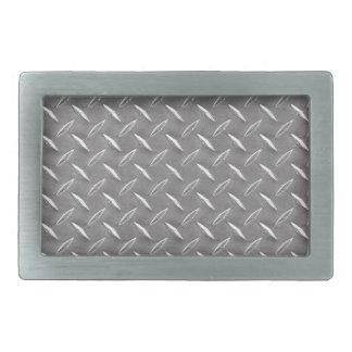 Grey Diamond Plate Rectangular Belt Buckle