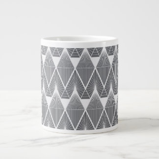 Grey diamonds large coffee mug