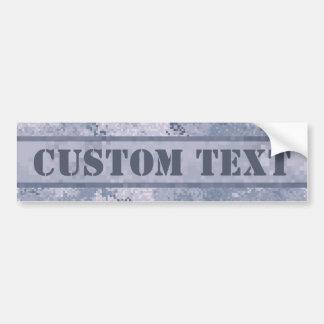 Grey Digi Camo w/ Custom Text Bumper Sticker