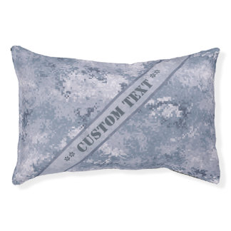Grey Digi Camo w/ Custom Text Pet Bed