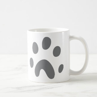 grey dog paw coffee mug
