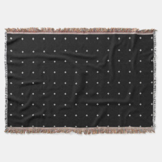 Grey Dots accent Black Throw Blanket