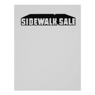 Grey Downtown Sidewalk Sale Graphic Sale Font 21.5 Cm X 28 Cm Flyer