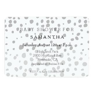 Grey Expression baby shower 13 Cm X 18 Cm Invitation Card