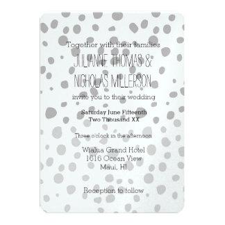 Grey Expression Ombre Dots Wedding 13 Cm X 18 Cm Invitation Card