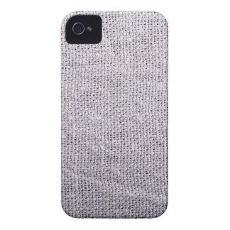 Grey fabric background burlap Case-Mate iPhone 4 cases