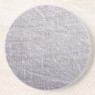 Grey fabric background burlap coaster