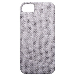 Grey fabric background burlap iPhone 5 case