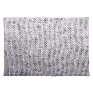 Grey fabric background burlap placemat