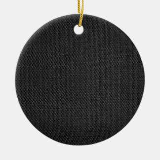 Grey fabric texture round ceramic decoration