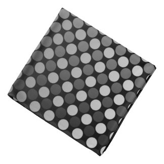 Grey Fade Polka Dot Hair Band Bandana