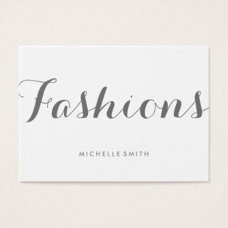 Grey Fancy Font Minimalist Business Card