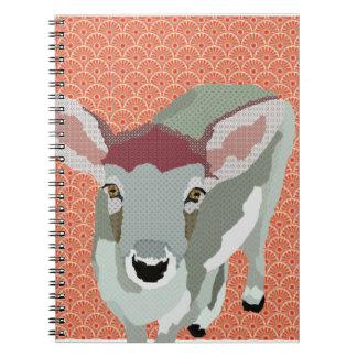 Grey Fawn Orange Notebook