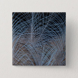 Grey Feather Abstract 15 Cm Square Badge