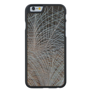Grey Feather Abstract Carved Maple iPhone 6 Case