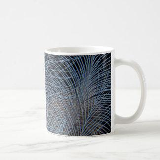 Grey Feather Abstract Coffee Mug